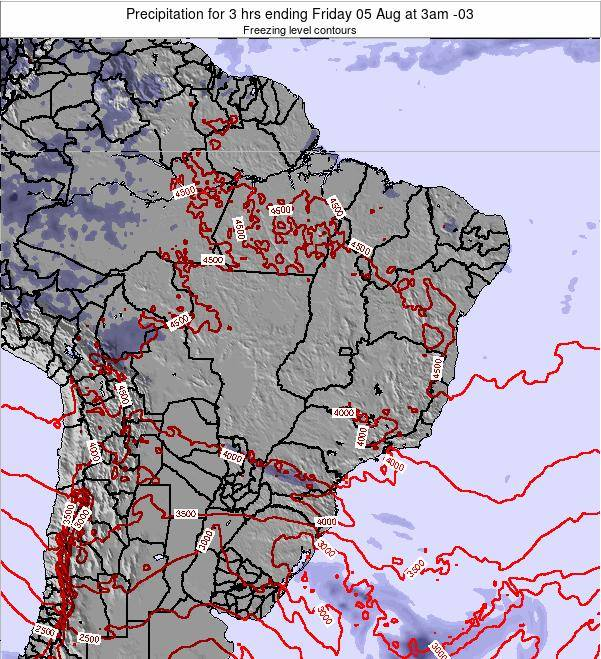 Brazil Precipitation for 3 hrs ending Tuesday 18 Jun at 3am BRT map