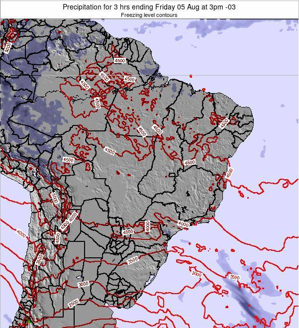 Brazil Precipitation for 3 hrs ending Friday 24 May at 9pm BRT