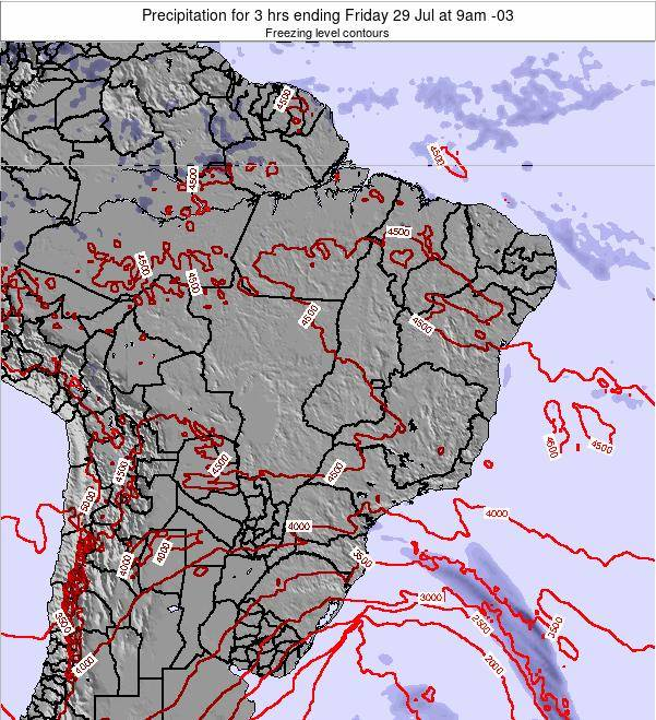 Brazil Precipitation for 3 hrs ending Monday 27 May at 9pm BRT