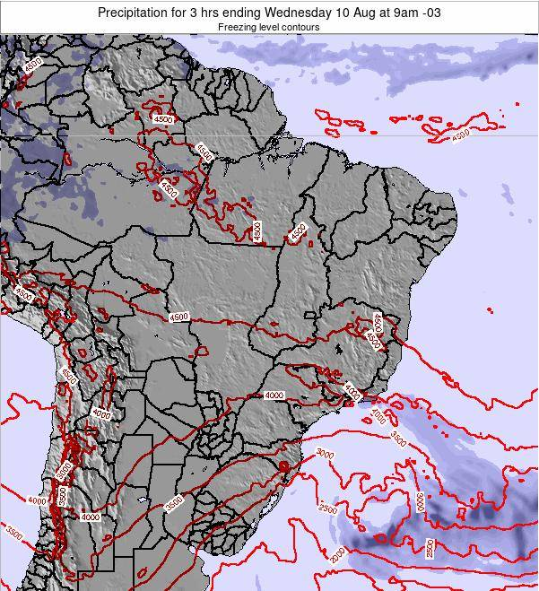Brazil Precipitation for 3 hrs ending Wednesday 26 Jun at 9pm BRT
