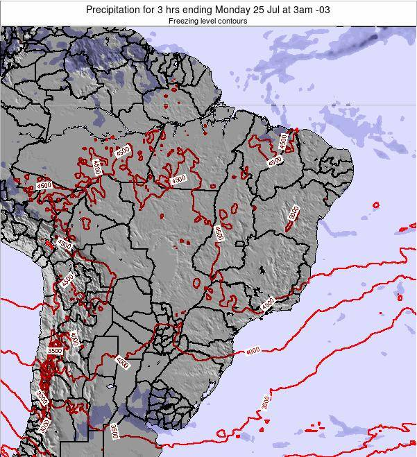 Brazil Precipitation for 3 hrs ending Wednesday 22 May at 9am BRT map