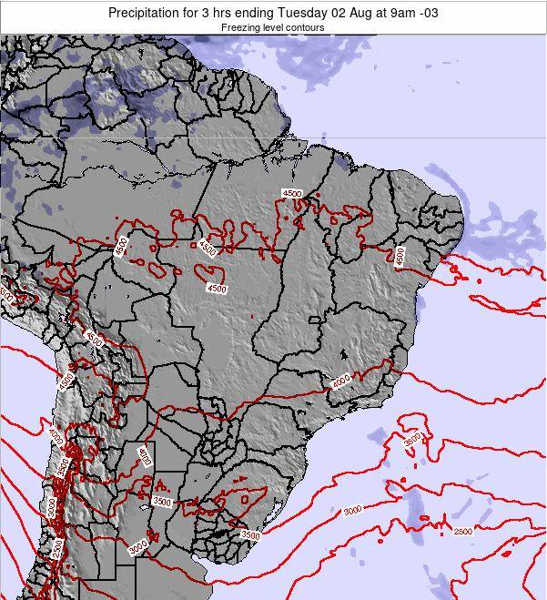 Brazil Precipitation for 3 hrs ending Tuesday 21 May at 9am BRT