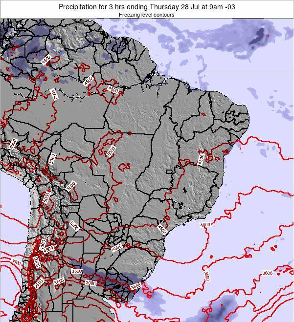 Brazil Precipitation for 3 hrs ending Sunday 19 May at 9pm BRT