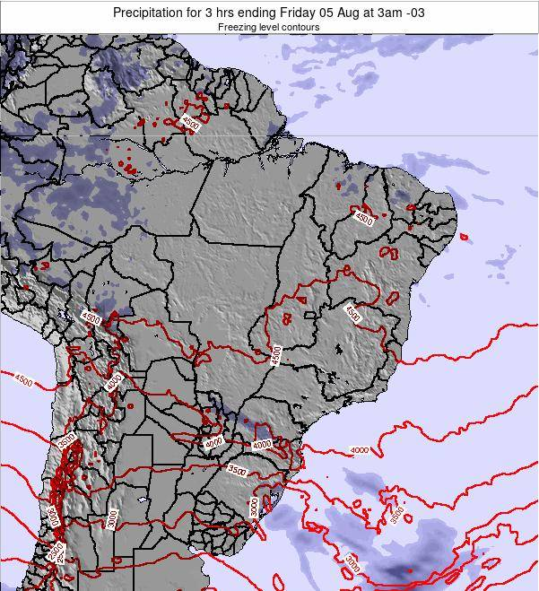 Brazil Precipitation for 3 hrs ending Monday 27 May at 3pm BRT map