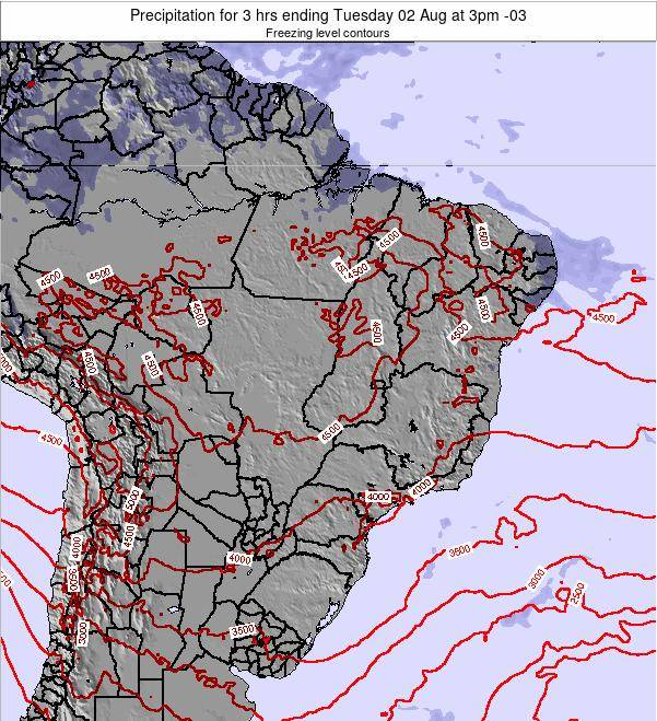 Brazil Precipitation for 3 hrs ending Tuesday 28 May at 9am BRT map