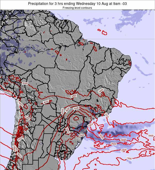 Brazil Precipitation for 3 hrs ending Wednesday 22 May at 9pm BRT