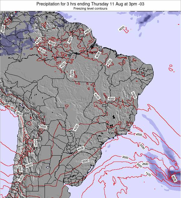 Brazil Precipitation for 3 hrs ending Monday 27 May at 3am BRT map