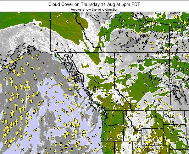 British-Columbia Cloud Cover on Thursday 02 Apr at 11am PDT