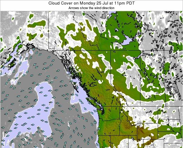 British-Columbia Cloud Cover on Monday 20 May at 5pm PDT