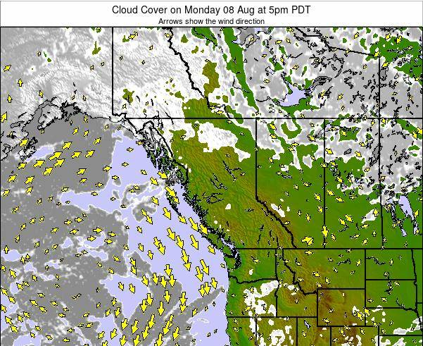 British-Columbia Cloud Cover on Sunday 27 Jul at 5am PDT