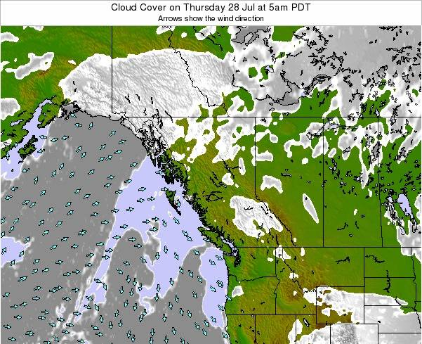British-Columbia Cloud Cover on Friday 25 Apr at 11pm PDT