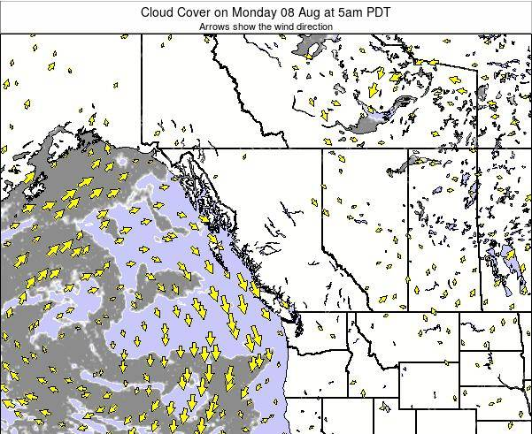 British-Columbia Cloud Cover on Friday 08 May at 5pm PDT