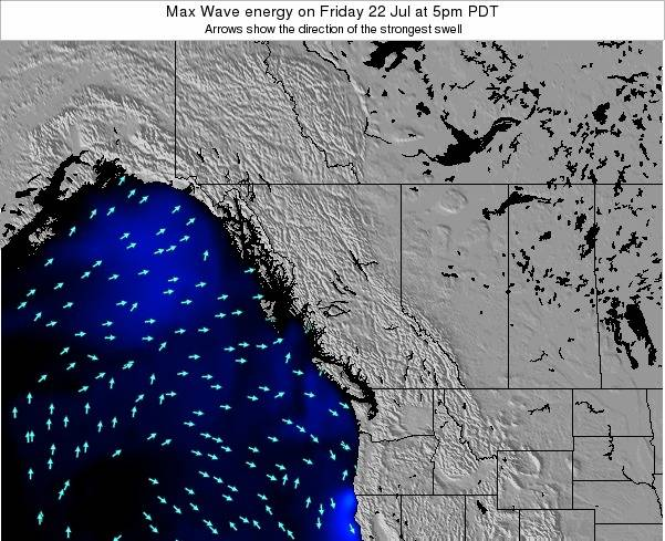 British-Columbia Max Wave energy on Tuesday 21 Feb at 10pm PST