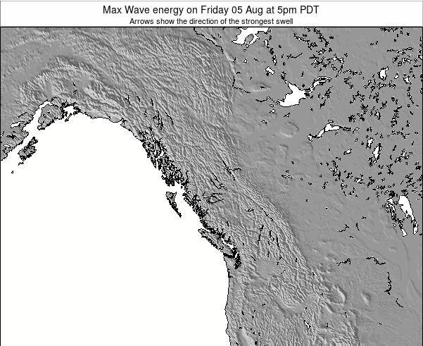 British-Columbia Max Wave energy on Monday 09 Dec at 10am PST