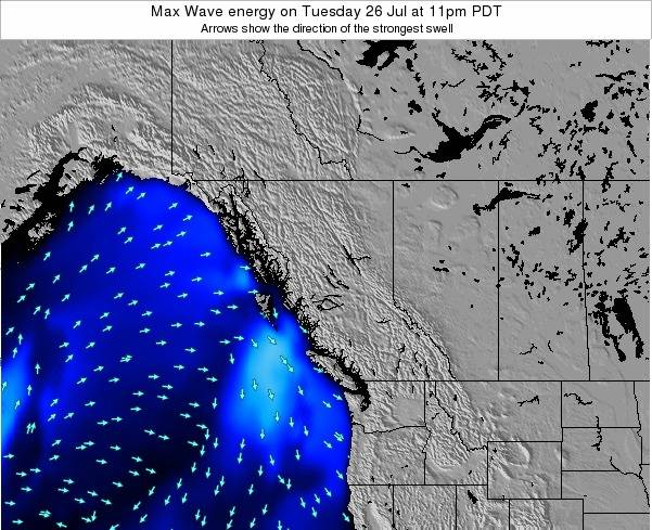 British-Columbia Max Wave energy on Thursday 24 Jul at 5pm PDT