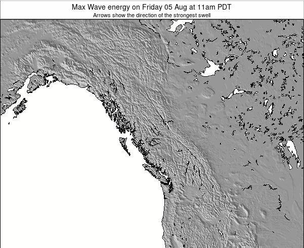 British-Columbia Max Wave energy on Wednesday 25 Oct at 11am PDT