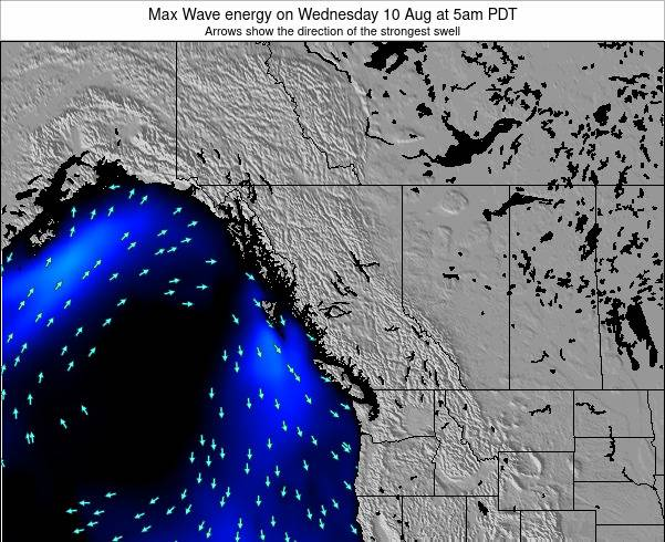 British-Columbia Max Wave energy on Saturday 07 May at 11pm PDT