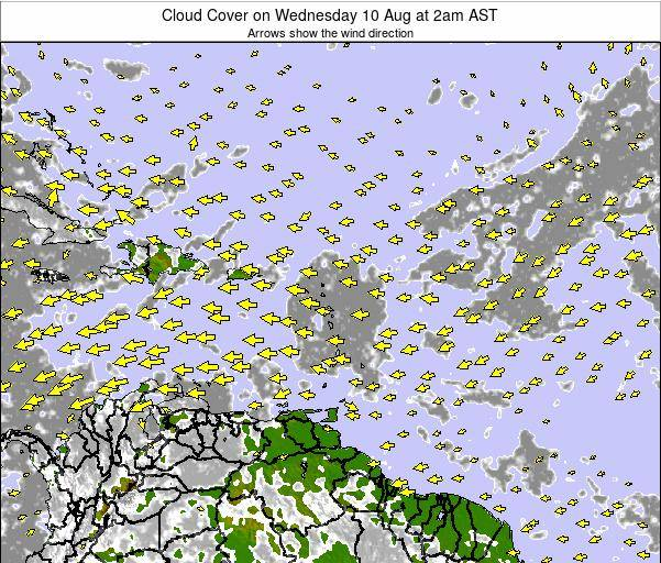 Barbados Cloud Cover on Sunday 20 Apr at 8pm AST
