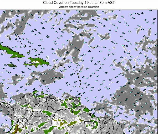 Barbados Cloud Cover on Friday 24 May at 2pm AST