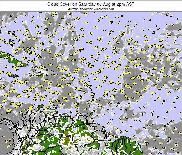 Barbados Cloud Cover on Monday 07 Sep at 8pm AST