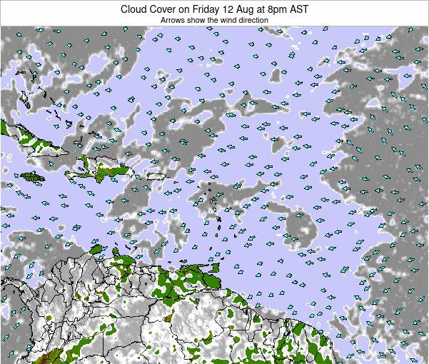 Puerto Rico Cloud Cover on Wednesday 29 May at 8am AST