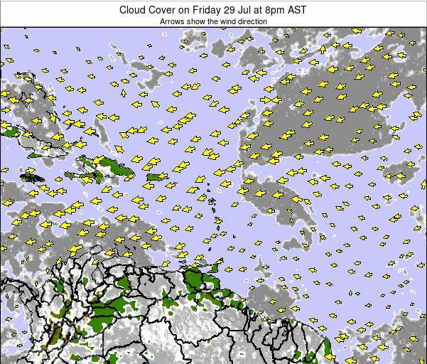 Puerto Rico Cloud Cover on Tuesday 17 Dec at 8am AST