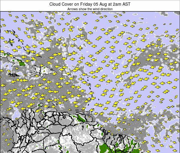Puerto Rico Cloud Cover on Tuesday 05 Aug at 8pm AST