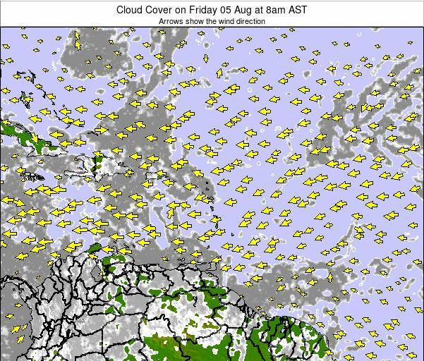 Puerto Rico Cloud Cover on Wednesday 30 Jul at 2pm AST