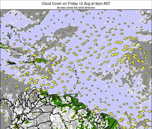 Puerto Rico Cloud Cover on Tuesday 24 Dec at 2pm AST
