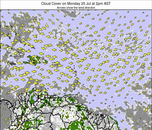 Barbados Cloud Cover on Wednesday 12 Mar at 8am AST