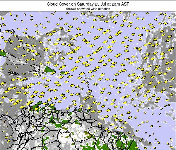 Guadeloupe Cloud Cover on Friday 13 Dec at 8pm AST