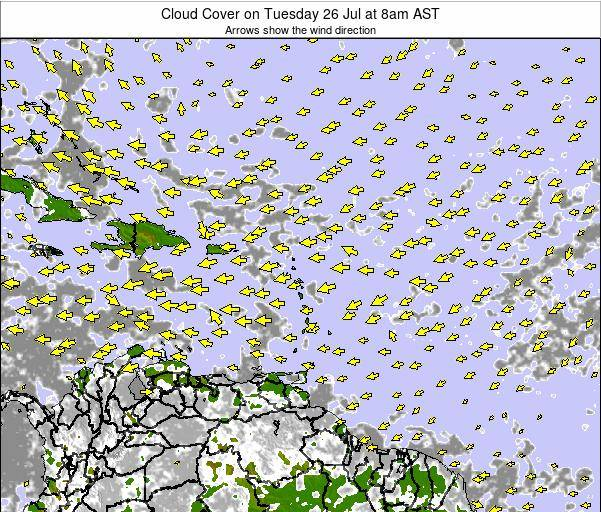 Guadeloupe Cloud Cover on Saturday 01 Oct at 2am AST