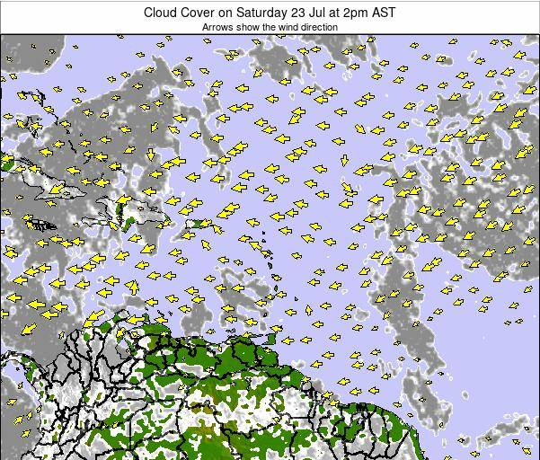 Anguilla Cloud Cover on Friday 24 May at 8pm AST