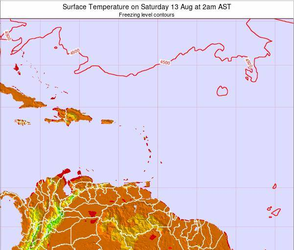 Saint Lucia Surface Temperature on Friday 30 Sep at 8am AST