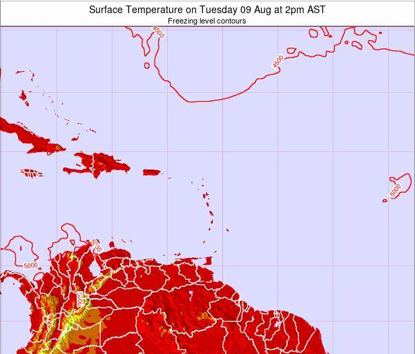Saint Lucia Surface Temperature on Thursday 04 May at 2am AST