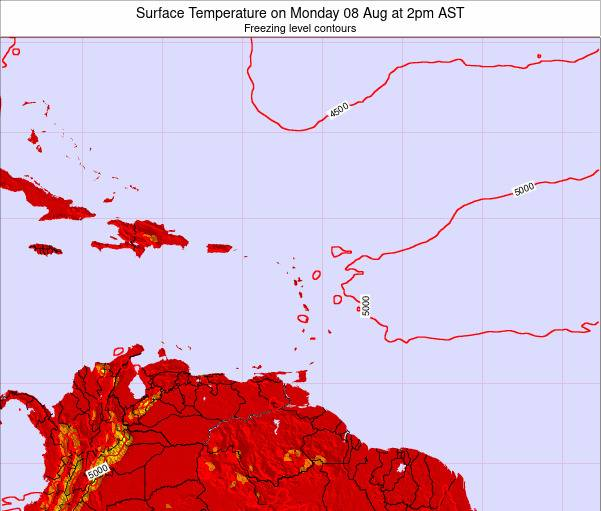 Saint Lucia Surface Temperature on Monday 20 Feb at 8am AST