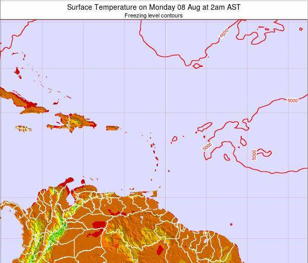 Saint Lucia Surface Temperature on Monday 28 Jul at 8pm AST