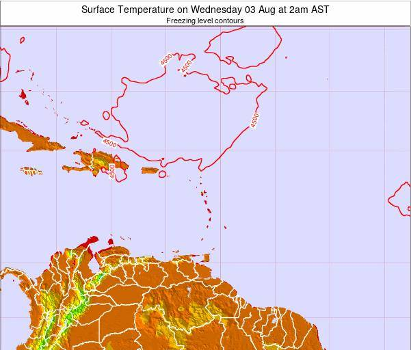 British Virgin Islands Surface Temperature on Wednesday 19 Jun at 8pm AST