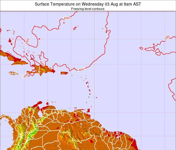 Saint Lucia Surface Temperature on Friday 29 Jul at 2am AST