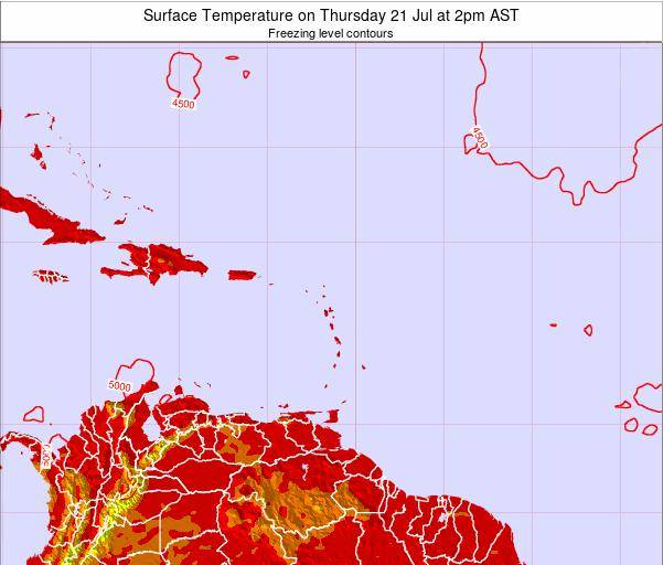 Montserrat Surface Temperature on Monday 24 Nov at 2am AST