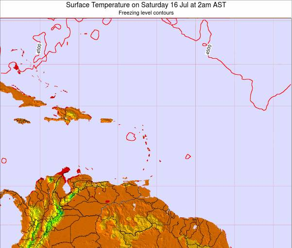 Montserrat Surface Temperature on Monday 21 Apr at 2pm AST