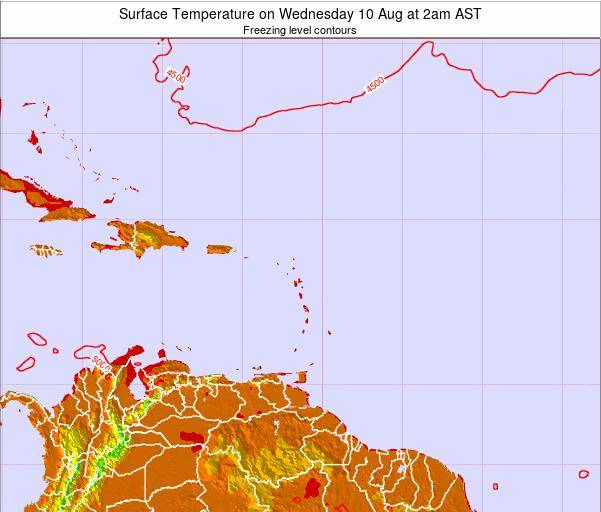 Saint Lucia Surface Temperature on Thursday 27 Nov at 8pm AST
