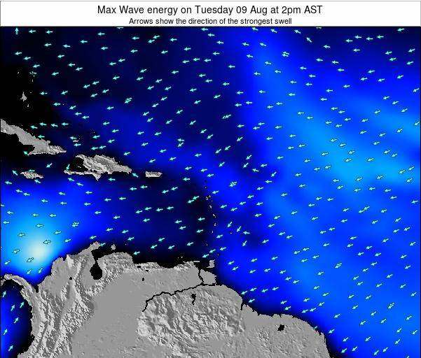Saint Kitts and Nevis Max Wave energy on Saturday 28 Oct at 2am AST