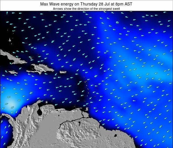 Dominican Republic Max Wave energy on Sunday 23 Jun at 2pm AST
