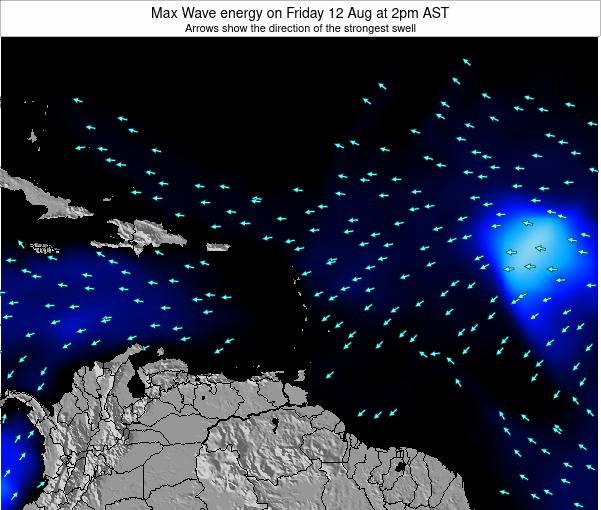 Saint Kitts and Nevis Max Wave energy on Sunday 23 Jun at 2pm AST