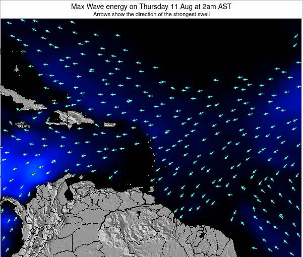 British Virgin Islands Max Wave energy on Saturday 19 Apr at 2am AST