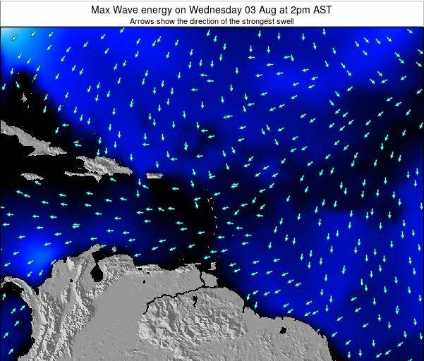 British Virgin Islands Max Wave energy on Monday 28 Jul at 8pm AST