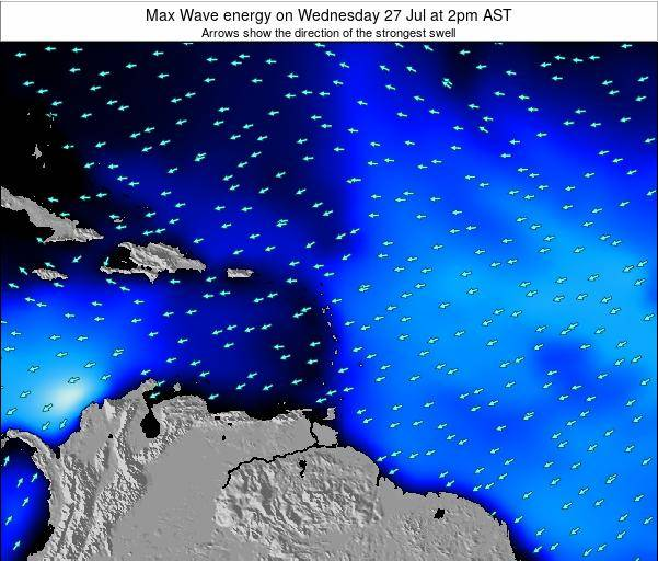 Dominican Republic Max Wave energy on Monday 24 Jun at 2am AST