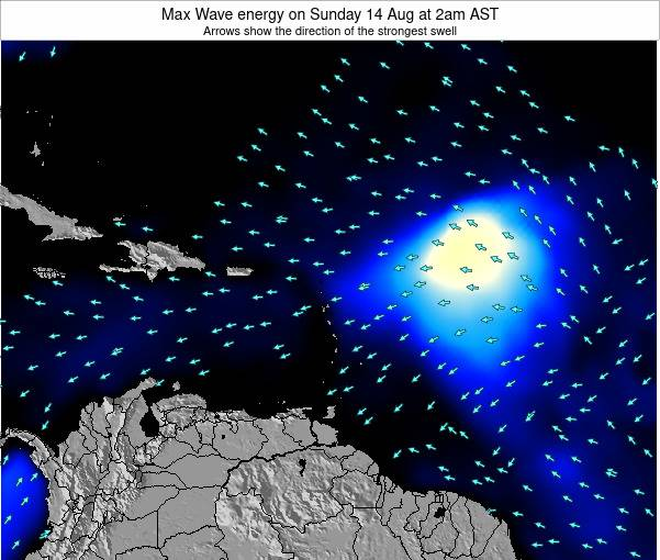 Saint Kitts and Nevis Max Wave energy on Friday 24 May at 2am AST