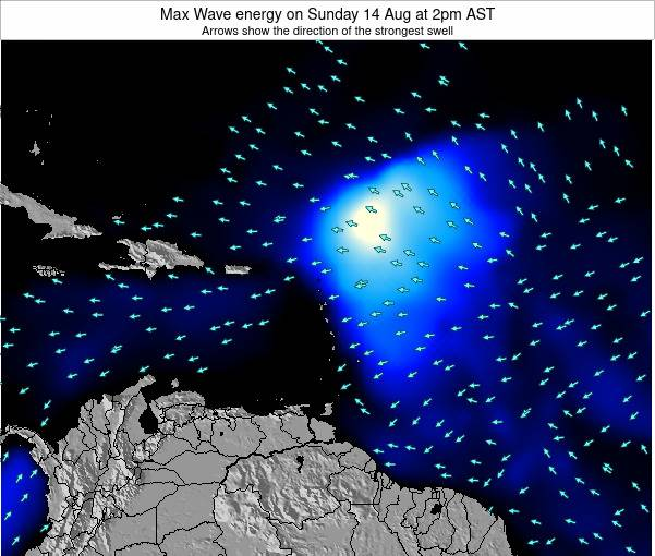 British Virgin Islands Max Wave energy on Saturday 02 Aug at 2am AST